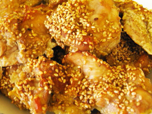 オーブンで楽勝低カロリー!揚げない唐揚げ 鶏肉のごま焼き