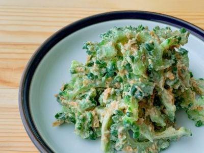 【野菜ひとつ】ゴーヤのごまマヨおかかサラダ