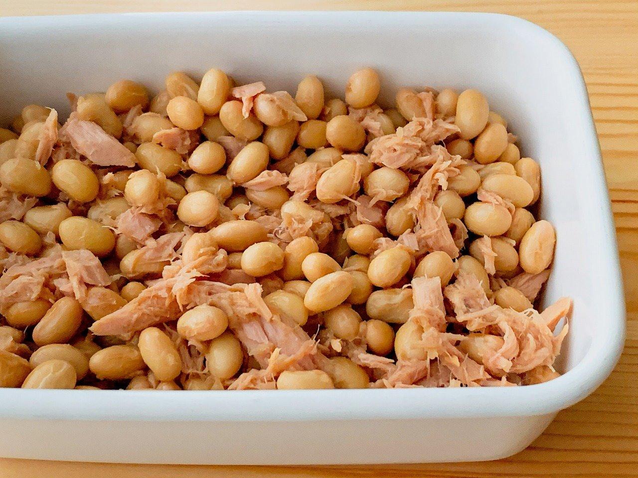 大豆とツナの和風マリネ