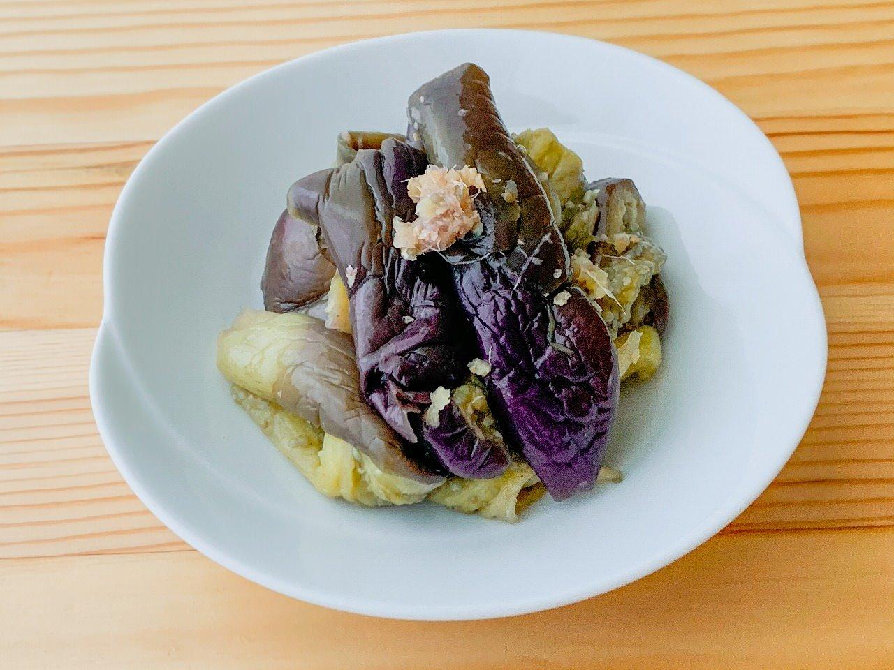 【野菜ひとつ】蒸しなすの酢の物