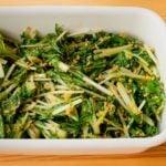 【野菜ひとつ】水菜のごま生姜サラダ