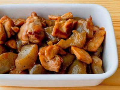 こんにゃくと鶏もも肉の照り煮
