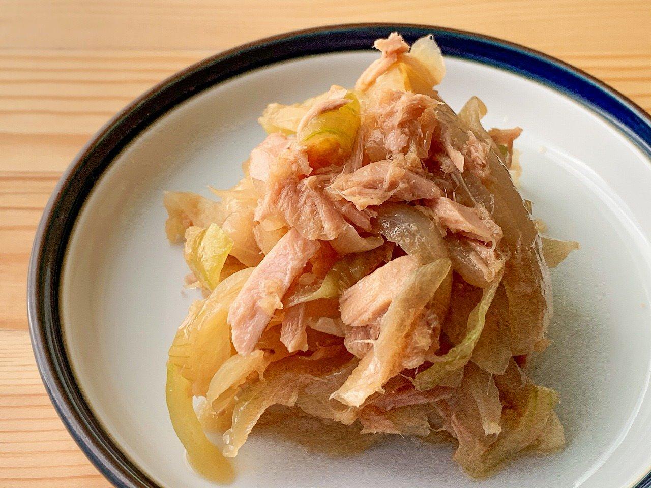 玉ねぎとツナの和風サラダ