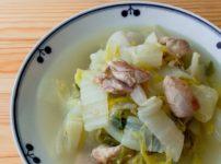 白菜の鶏塩スープ