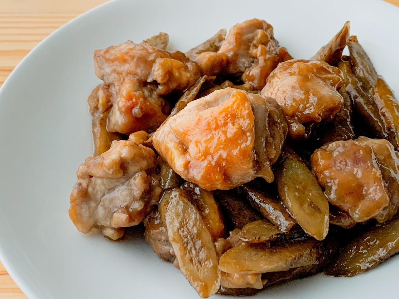 ごぼうと鶏もも肉の甘辛照り煮