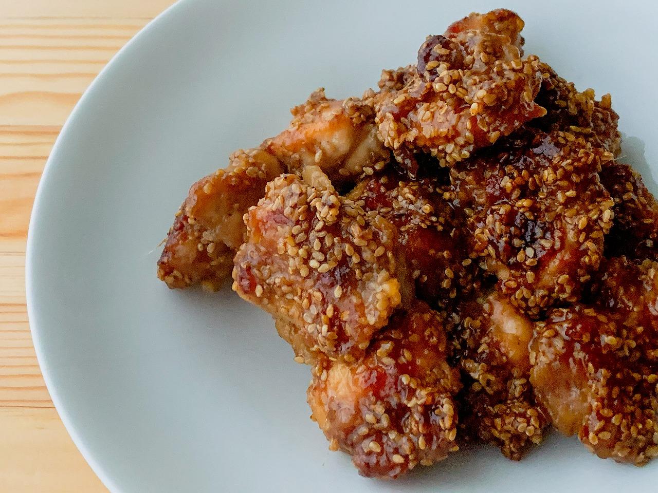鶏もも肉のごま照り焼き