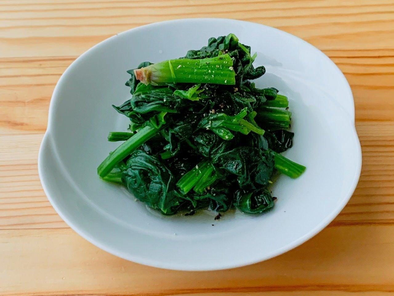【野菜ひとつ】ほうれん草の洋風おひたし
