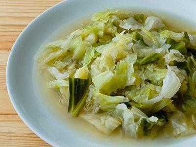 キャベツの生姜スープ
