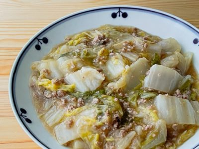 白菜と豚ひき肉の中華風あん