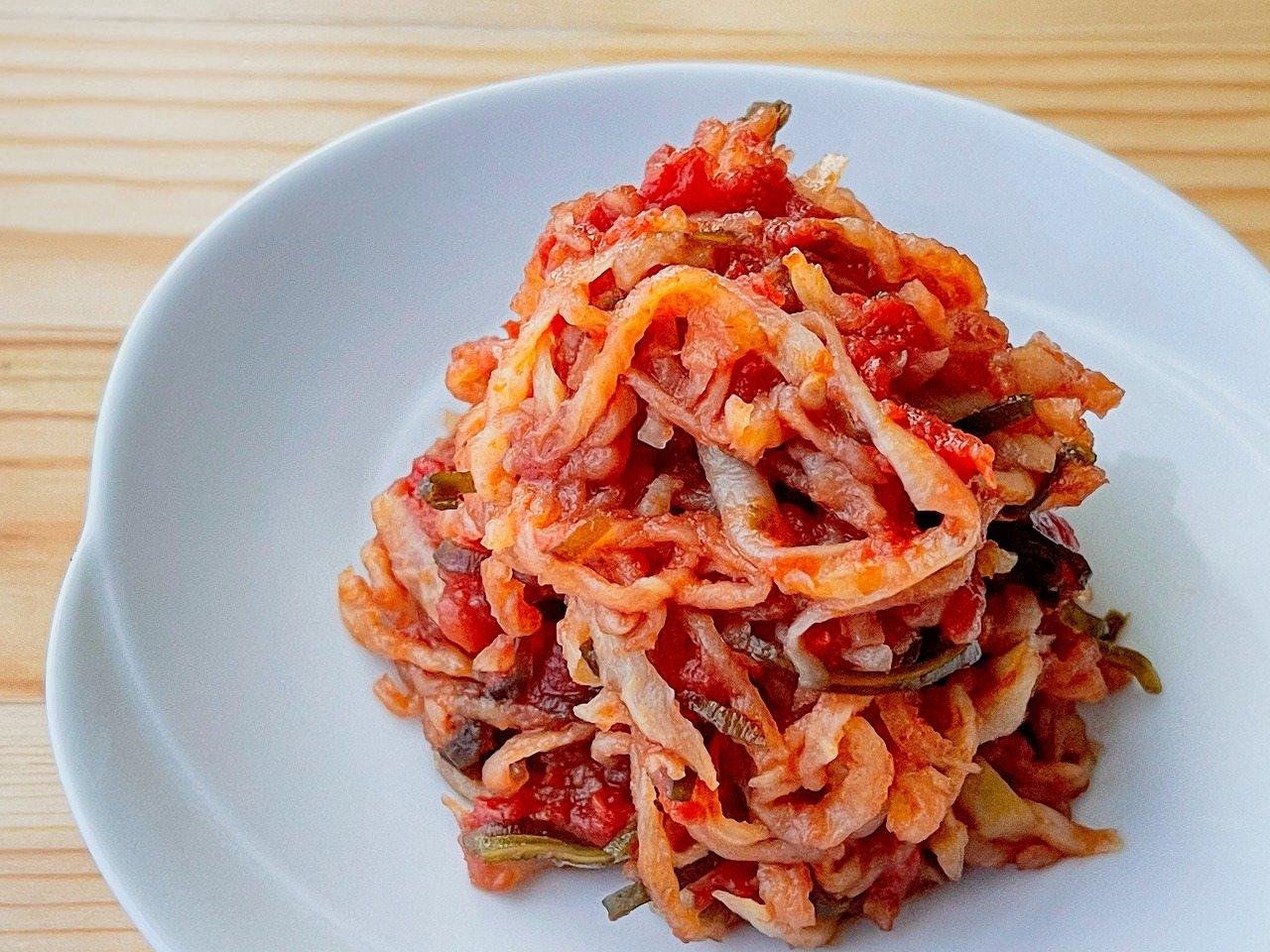 【野菜ひとつ】切干大根のトマト煮