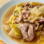 白菜と豚こまの煮物