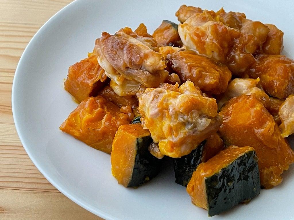 かぼちゃと鶏もも肉の甘辛炒め煮