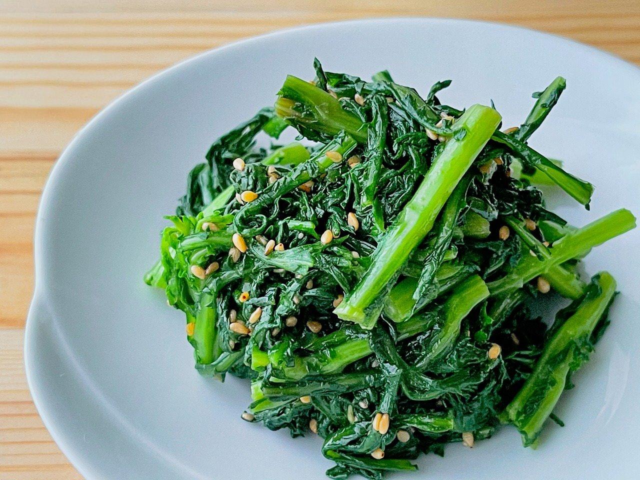 【野菜ひとつ】春菊のナムル