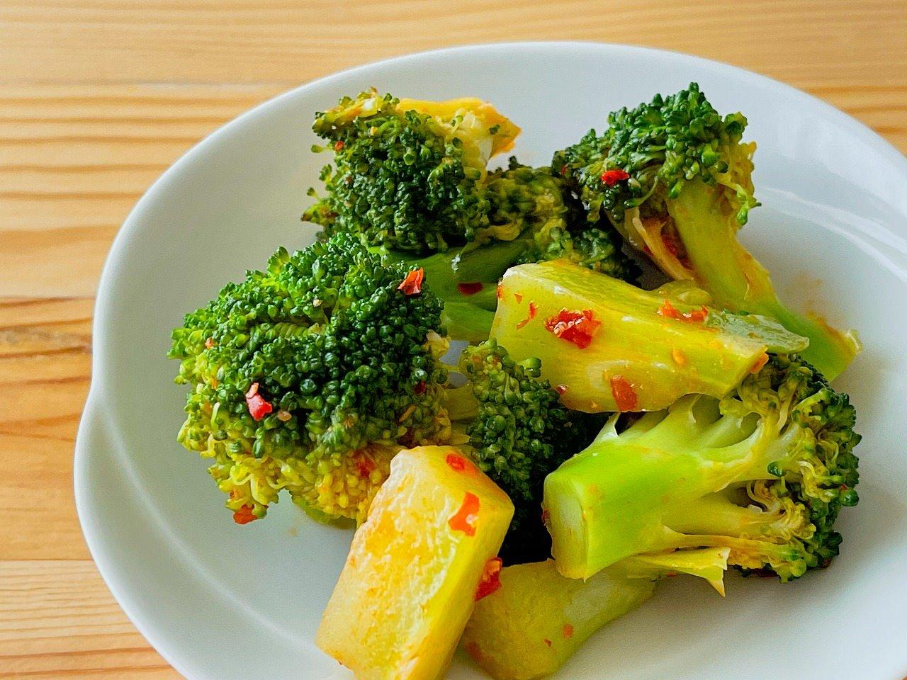 【野菜ひとつ】ブロッコリーのピリ辛和え