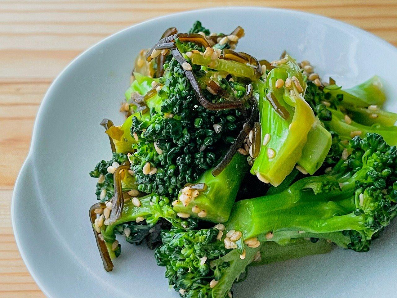 【野菜ひとつ】ブロッコリーの塩昆布蒸し