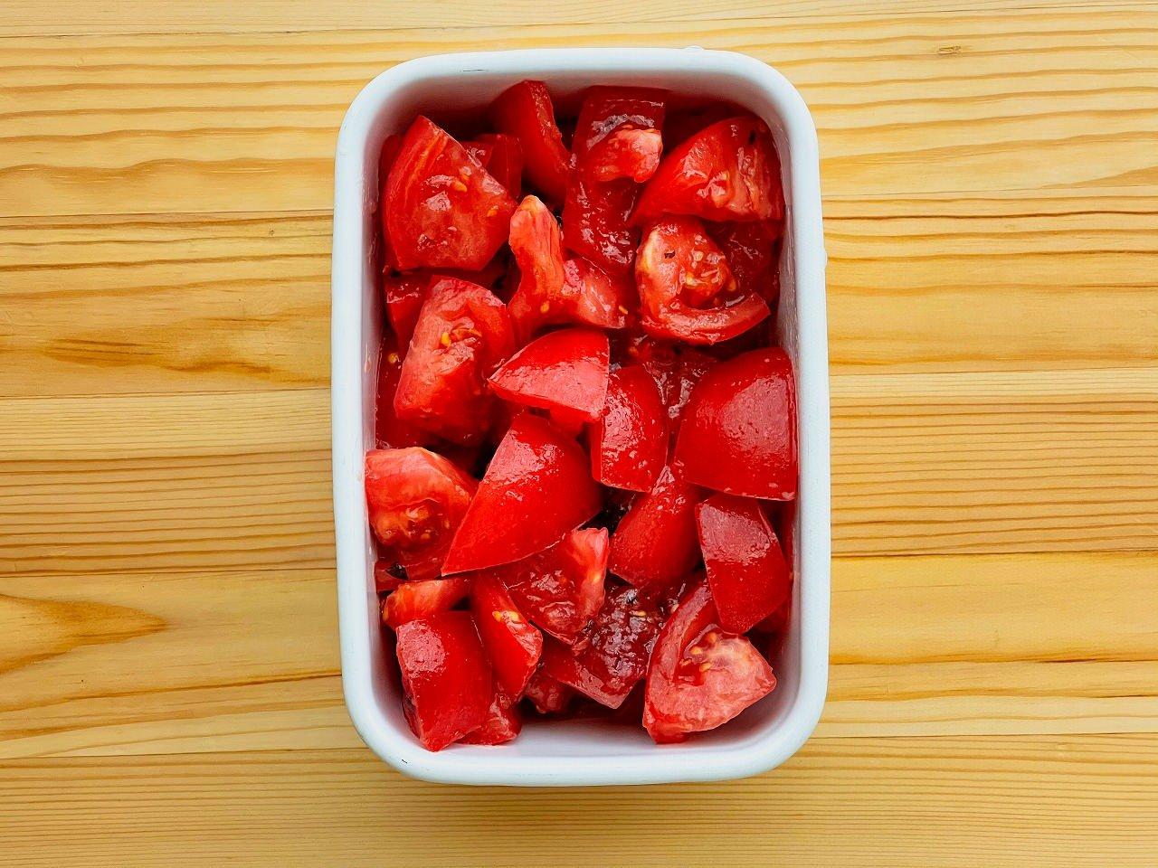 【野菜ひとつ】トマトの梅マリネ