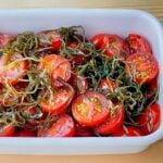 ミニトマトと刻み昆布の青じそノンオイルサラダ