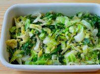 【野菜ひとつ】にんにく塩だれキャベツ