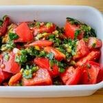 トマトのネギだれマリネ