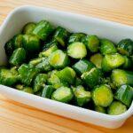 【野菜ひとつ】きゅうりのにんにく醤油漬け
