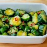 【野菜ひとつ】きゅうりのごまラー油漬け