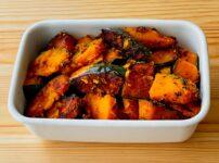 【野菜ひとつ】かぼちゃのにんにく醤油炒め