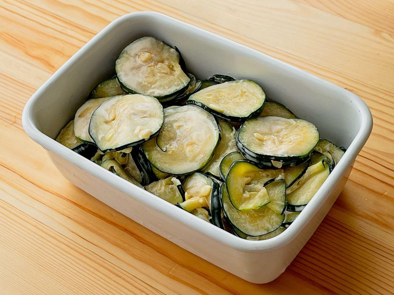 【野菜ひとつ】ズッキーニのわさびマヨサラダ