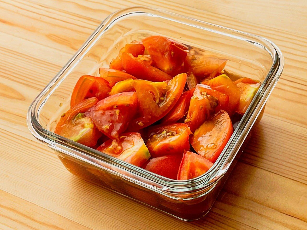 【野菜ひとつ】トマトの甘酢漬け