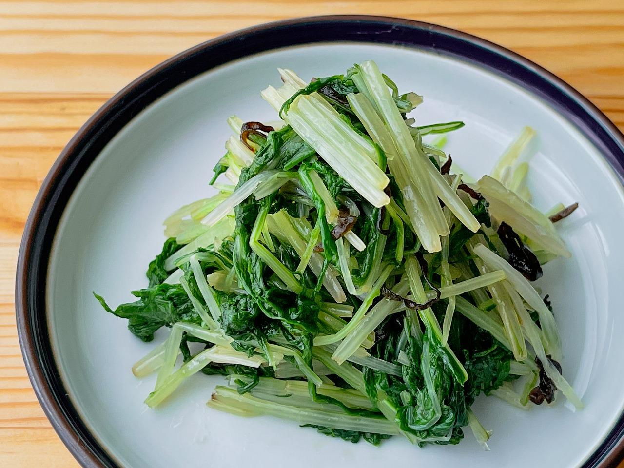 【野菜ひとつ】水菜の塩昆布和え