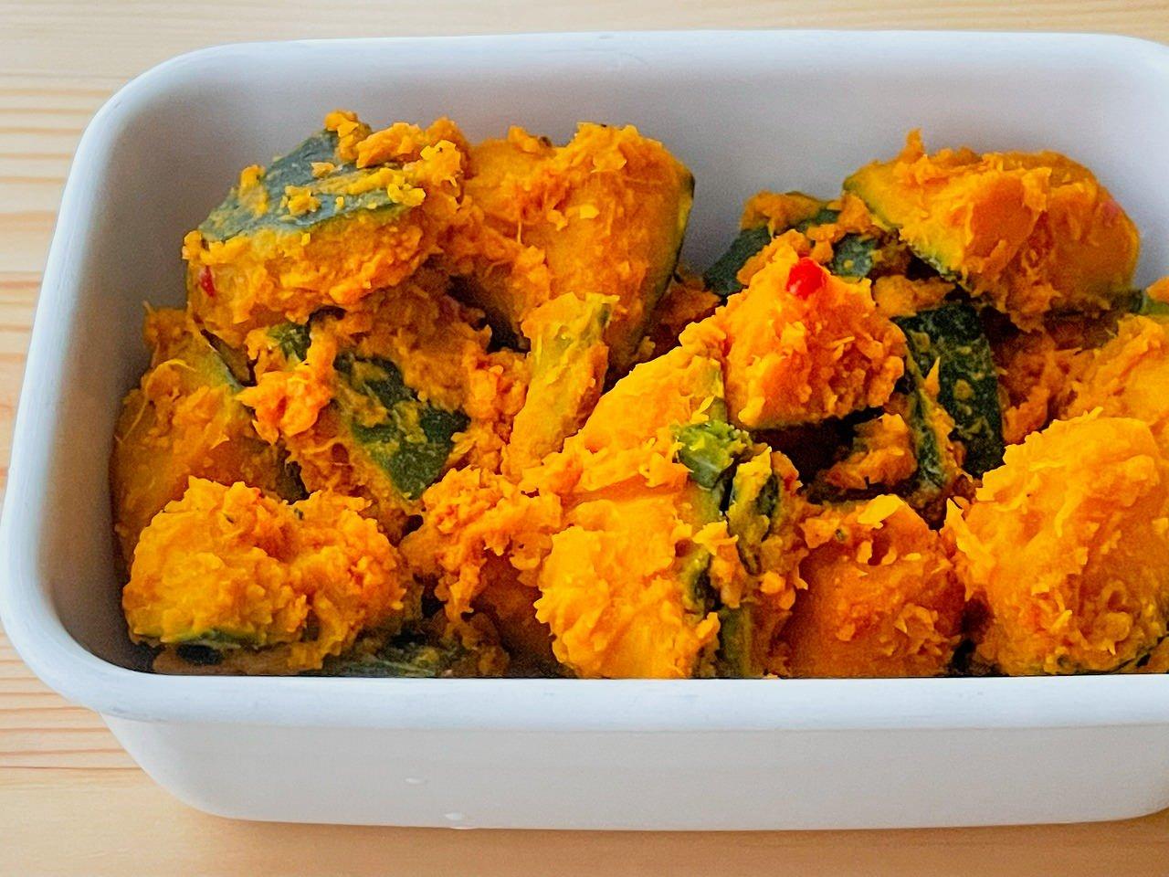 【野菜ひとつ】かぼちゃの豆板醤和え