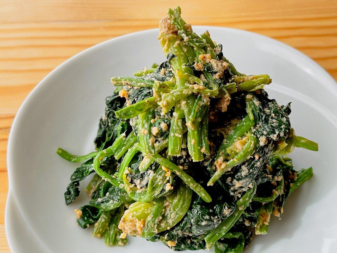 【野菜ひとつ】ほうれん草の胡麻和え