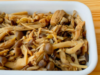 きのこと生姜の甘辛煮