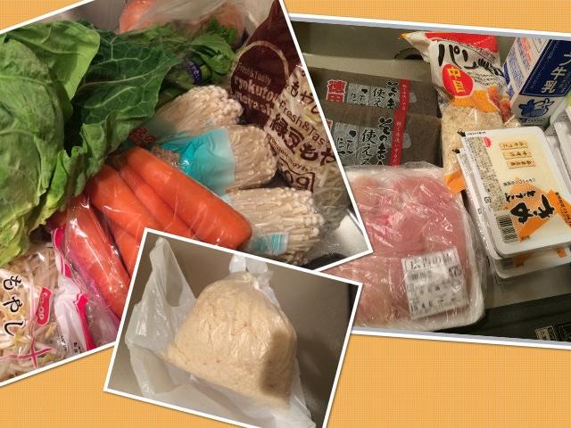 1週間の作り置きの値段&食材の単価