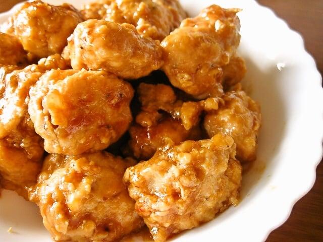 鶏つくねの甘辛照り焼き