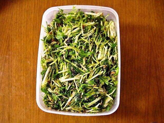 水菜大量消費サラダ