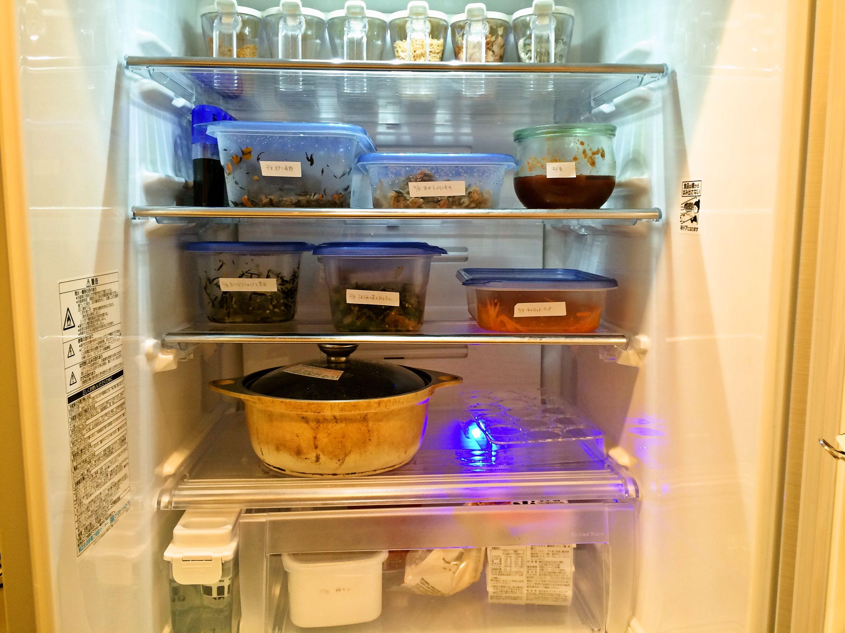 冷蔵庫・冷凍庫の中身と収納について