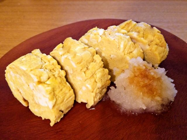 丸いフライパンでふわっふわの出汁巻き卵