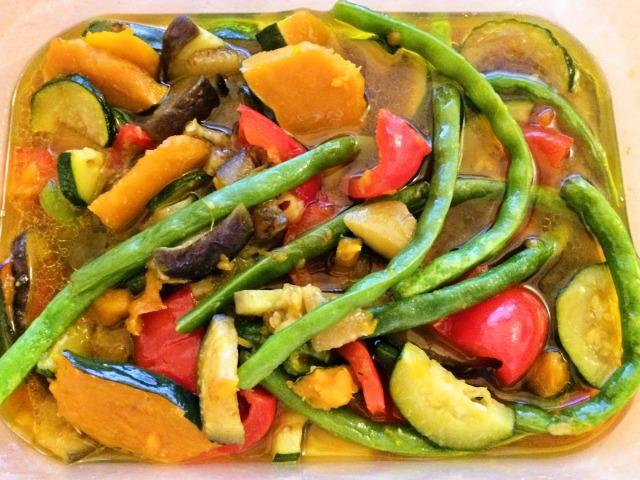 夏野菜の揚げない揚げびたし