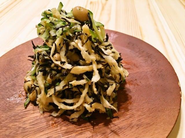 体にうれしい 大豆と切干大根とひじきのサラダ