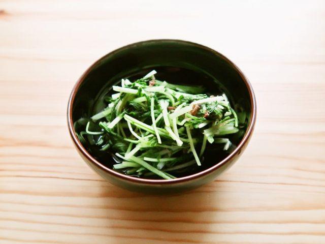 【野菜ひとつ】水菜の速攻煮びたし 冷やしておひたし