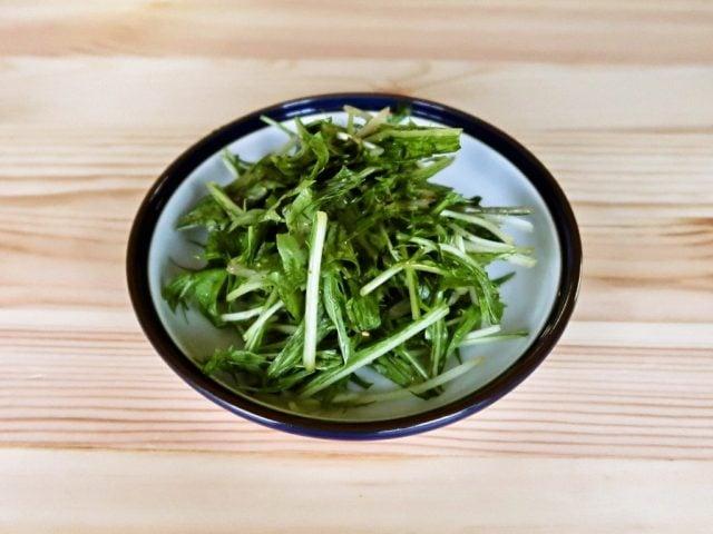 【野菜ひとつ】水菜のわさびノンオイルサラダ