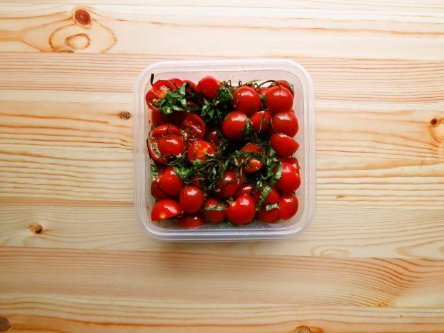 ミニトマトの青じそ昆布ノンオイルサラダ