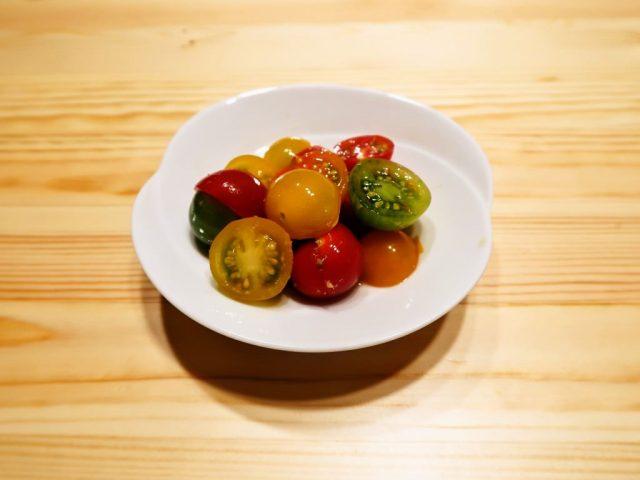 【野菜ひとつ】ミニトマトのわさび和え