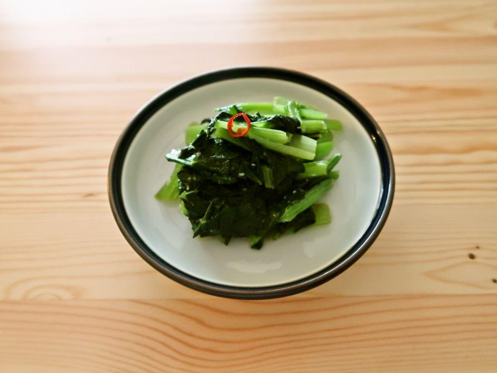 大量消費 小松菜のにんにく蒸し煮