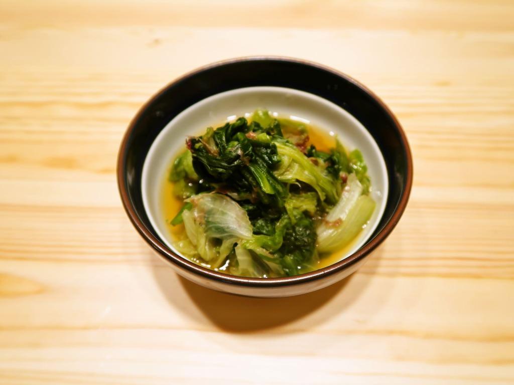 【野菜ひとつ】お鍋ひとつでレタスのおひたし風