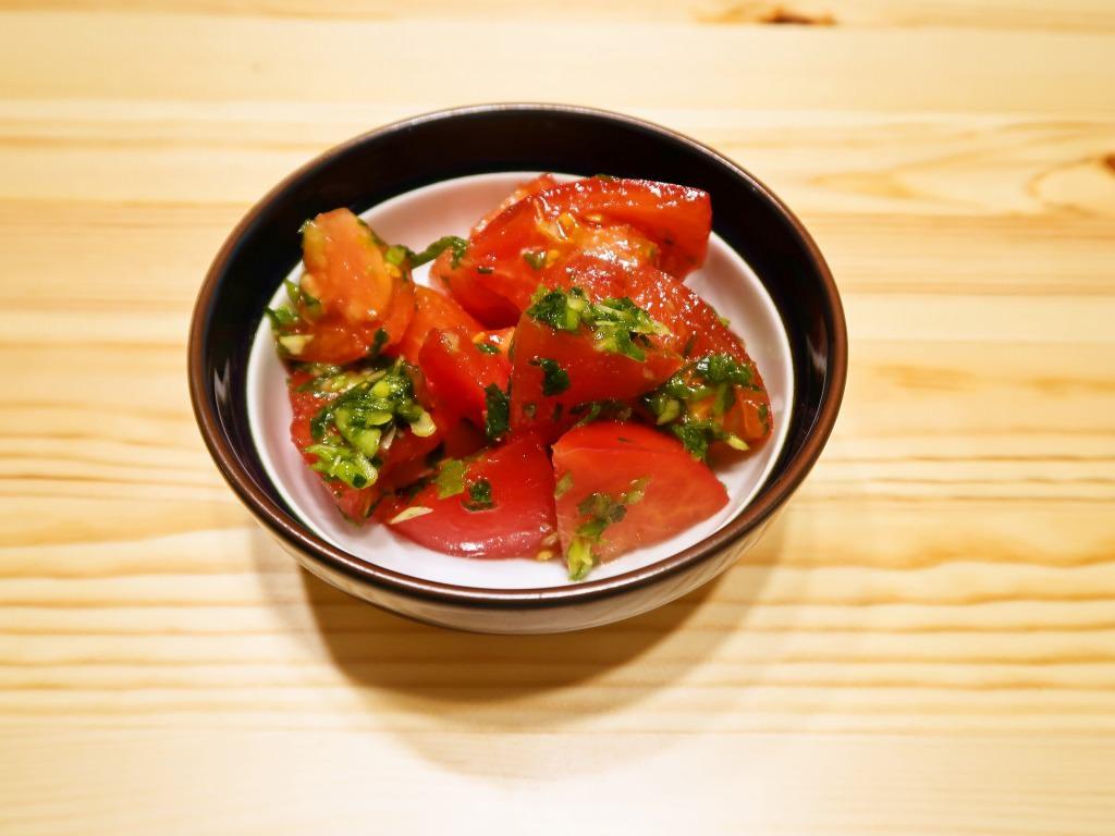 食欲増進 トマトのねぎマリネ