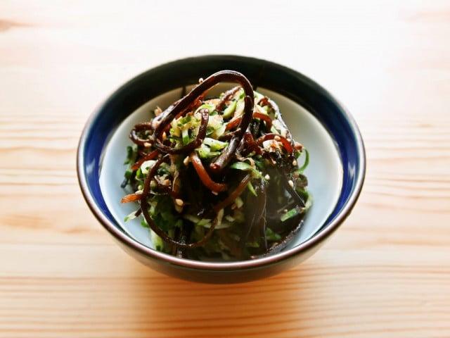 食欲刺激 長ひじきの梅しそノンオイルサラダ