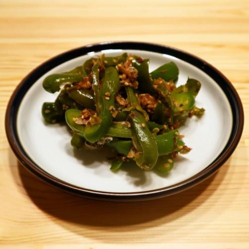 【野菜ひとつ】ごまたっぷり おかかピーマン