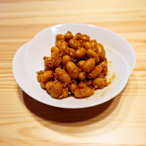 ピリ辛 大豆の豆板醤炒め