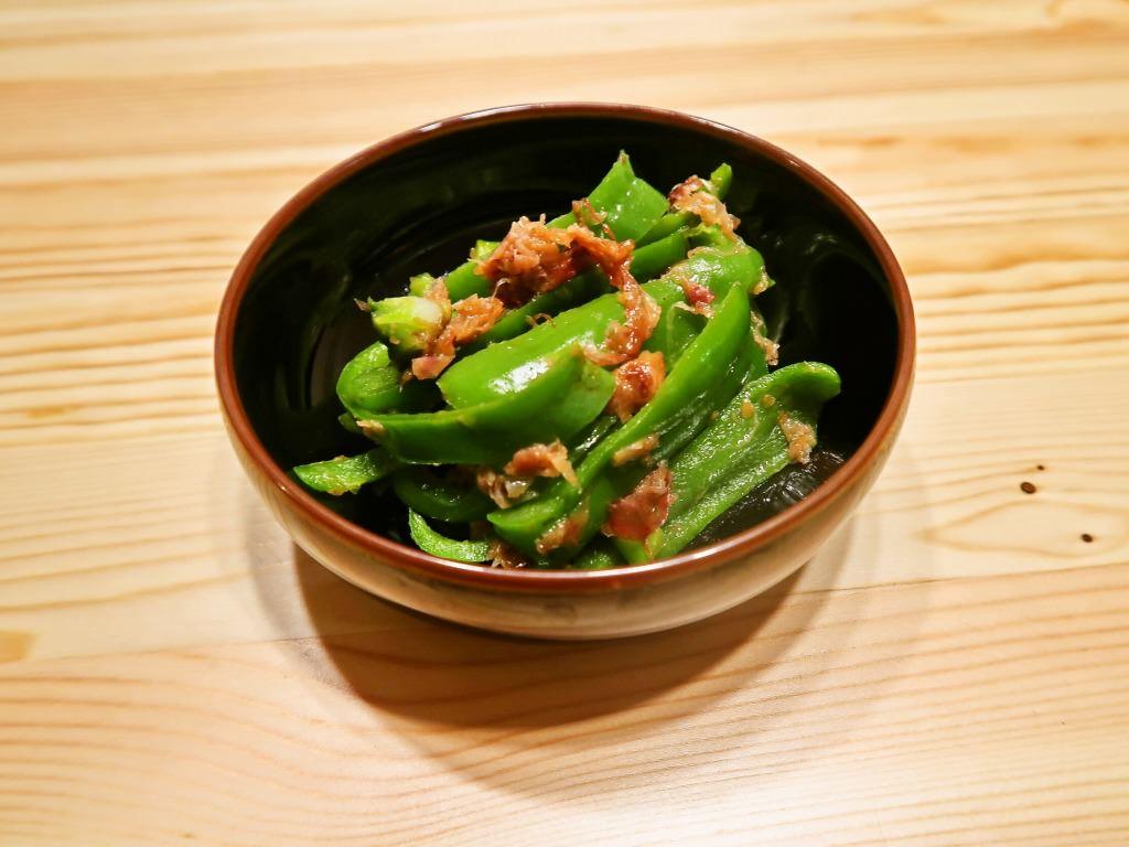 【野菜ひとつ】ピーマンの梅おかか和え
